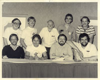 Top Row:  Tony Wike, Shelton Drum, Sam Grainger, Butch Guice, Pat Broderick; Bottom Row:  Mike Zeck, Romeo Tanghal, Marv Wolfman, George Perez.